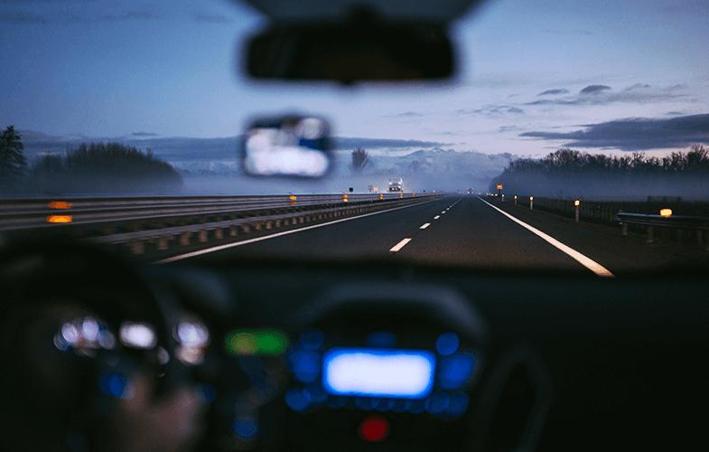 Lensle gece sürüşü