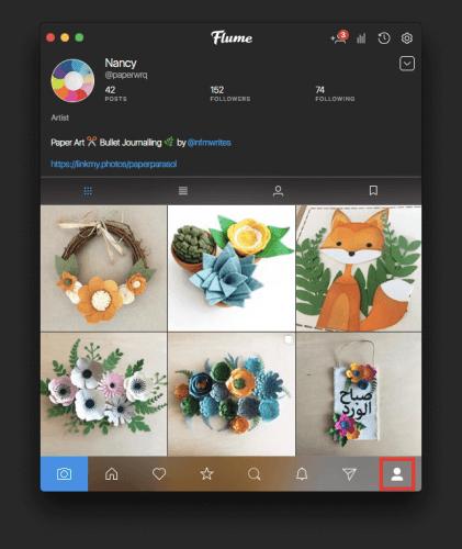 Instagram fotoğrafları bilgisayardan görme flume